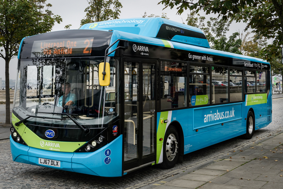 An Arriva electric bus