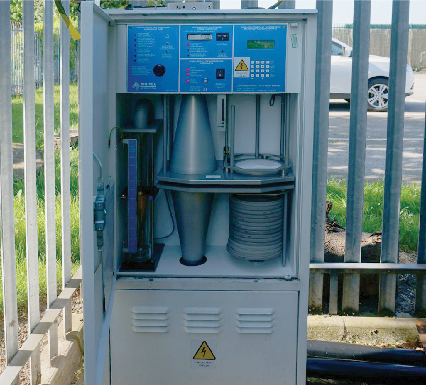 An air quality monitoring station in Liverpool